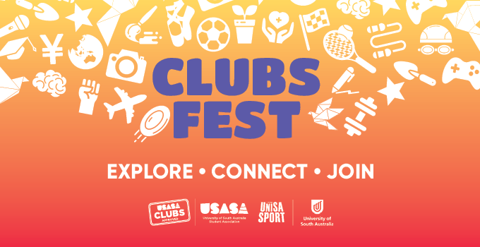USASA Clubs Fest Branding with type saying 'EXPLORE CONNECT JOIN'
