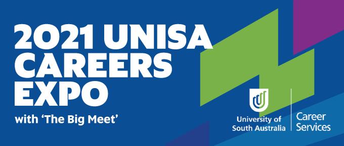 UniSA Careers Expo 2021 graphic